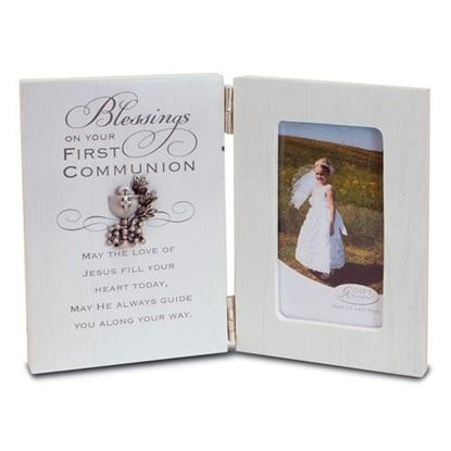 First Communion Frame Chalice Boxed