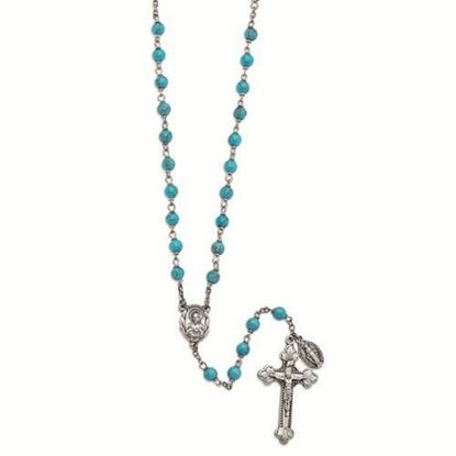Friendship and Happiness Faux Turquoise Rosary