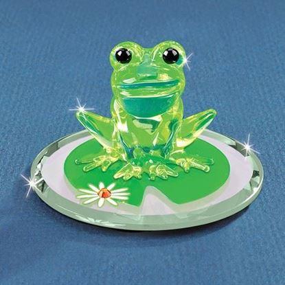 Glass Baron® Frog on Lily Pad Figurine