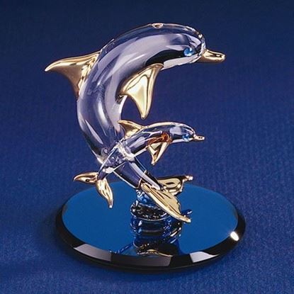 Glass Baron® Dolphin with Baby Figurine