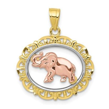 Picture of 10k Two-tone Elephant Charm