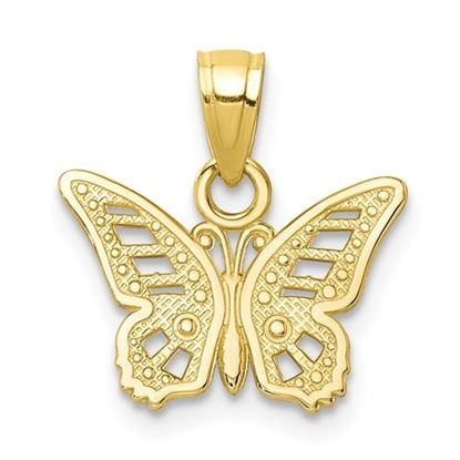 Picture of 10k Yellow Gold Butterfly Charm