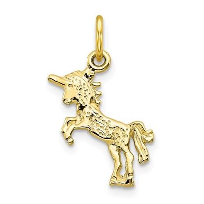 Picture of 10K Yellow Gold Baby Unicorn Charm