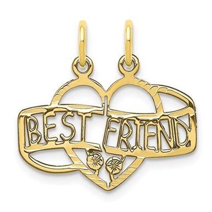 Picture of 10k Yellow Gold Best Friend Break Apart Charm
