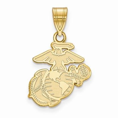 U.S. Marine Corps Medium Gold-plated Sterling Silver Pendant