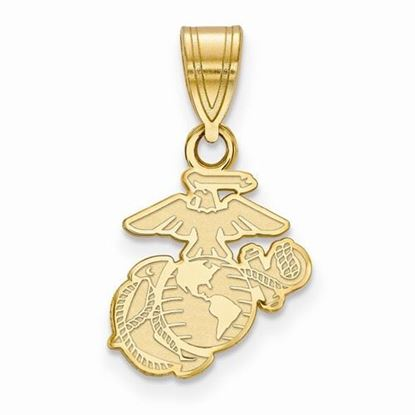 U.S. Marine Corps Small Gold-plated Sterling Silver Pendant