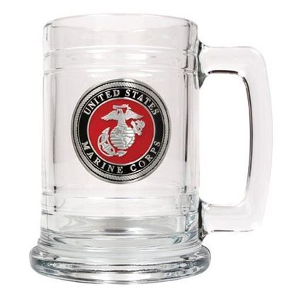 U.S. Marine Corps 15 oz. Glass Tankard
