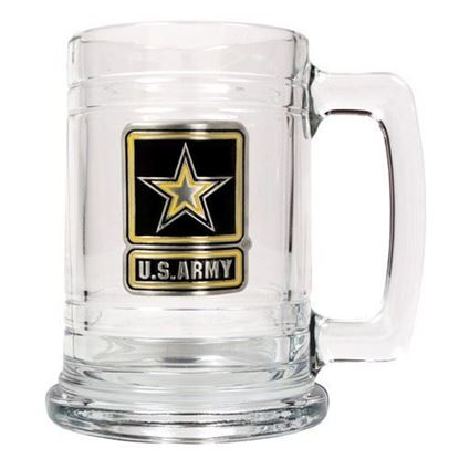 U.S. Army 15 ounce Glass Tankard