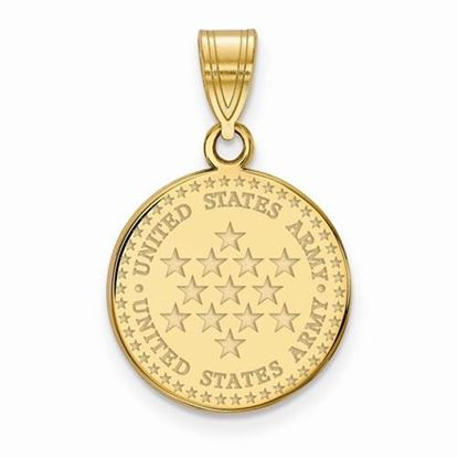 U.S. Army Gold-plated Sterling Silver Small Disc Pendant