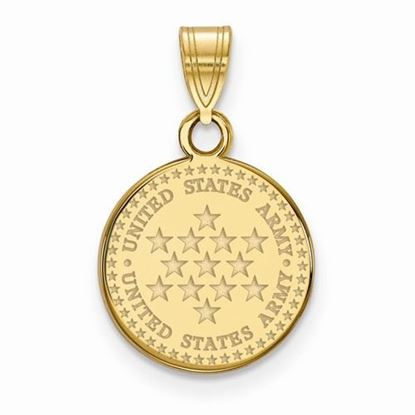 U.S. Army Gold-plated Sterling Silver Medium Disc Pendant