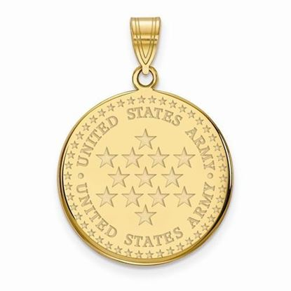 U.S. Army Gold-plated Sterling Silver Large Disc Pendant