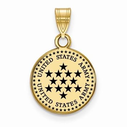 U.S. Army Gold-plated Sterling Silver Small Epoxied Disc Pendant
