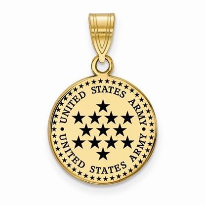 U.S. Army Gold-plated Sterling Silver Medium Epoxied Disc Pendant