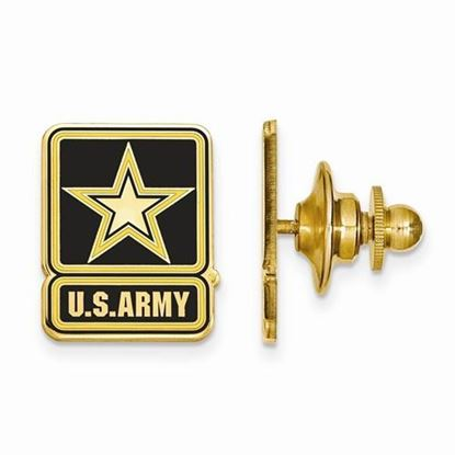 U.S. Army Gold-plated Sterling Silver Epoxied Lapel Pin