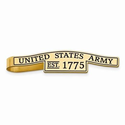 U.S. Army Gold-plated Sterling Silver Epoxied Tie Bar