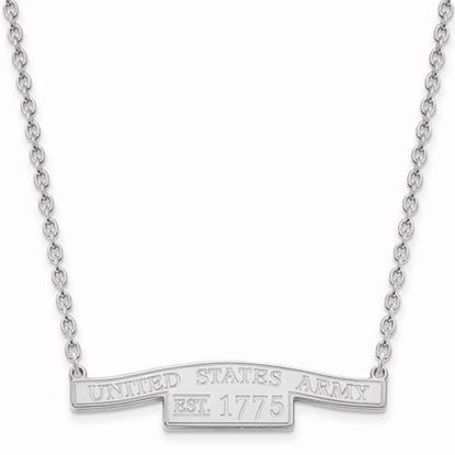 U.S. Army Sterling Silver Small Bar Necklace