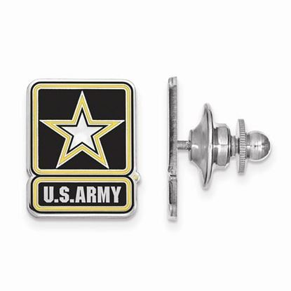 U.S. Army Sterling Silver Epoxied Lapel Pin
