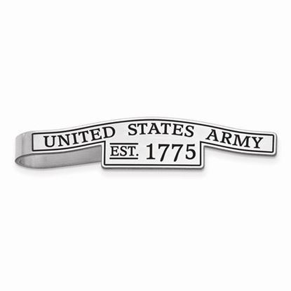 U.S. Army Sterling Silver Epoxied Tie Bar
