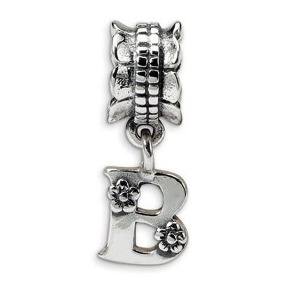 Picture of Sterling Silver Letter B Dangle Bead