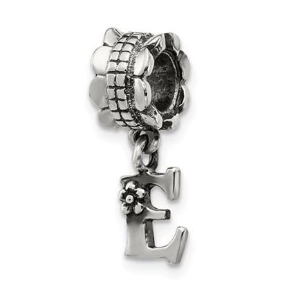 Picture of Sterling Silver Letter E Dangle Bead