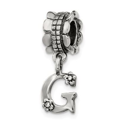 Picture of Sterling Silver Letter G Dangle Bead
