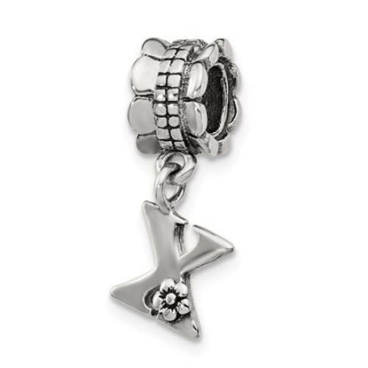 Picture of Sterling Silver Letter X Dangle Bead