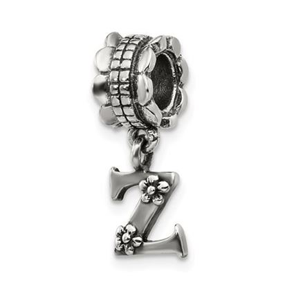 Picture of Sterling Silver Letter Z Dangle Bead