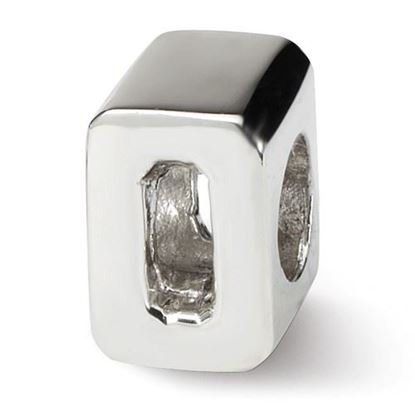 Picture of Sterling Silver Numeral 0 Bead