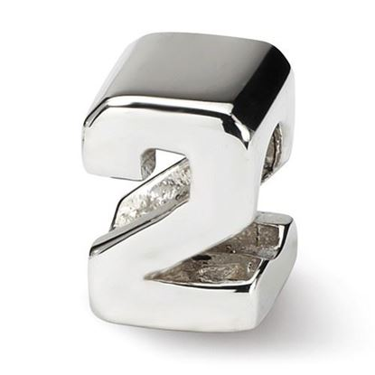 Picture of Sterling Silver Number 2 Bead