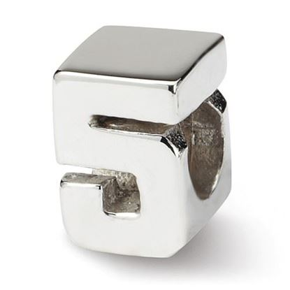 Picture of Sterling Silver Numeral 5 Bead
