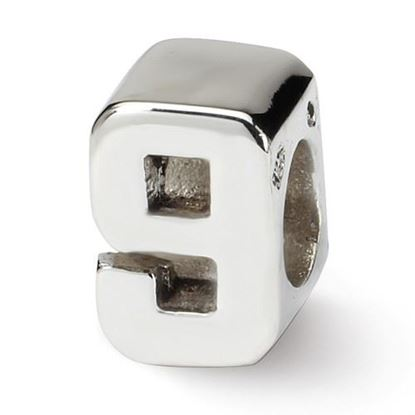Picture of Sterling Silver Number 9 Bead