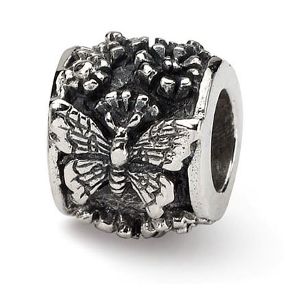 Picture of Sterling Silver Butterfly Bali Bead