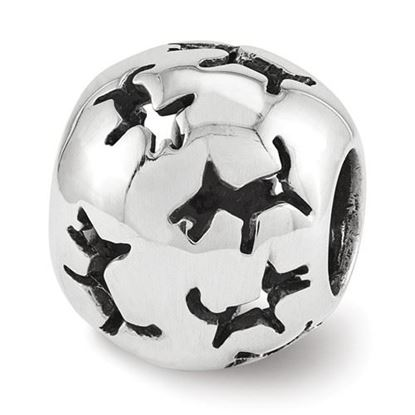 Picture of Sterling Silver Cutout Dog Bead