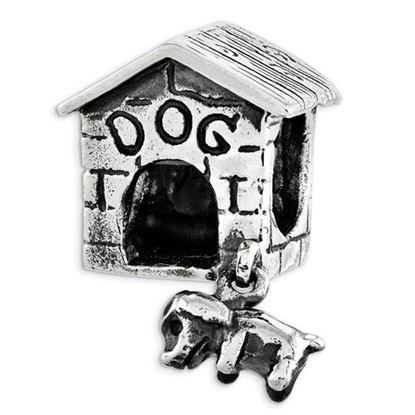Picture of Sterling Silver Dog House Dangle Bead