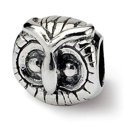 Picture of Sterling Silver Owl Head Bead