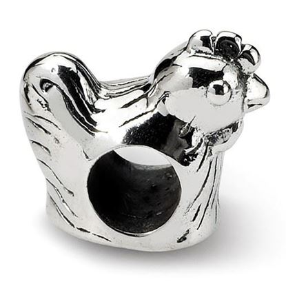 Picture of Sterling Silver Chicken Bead