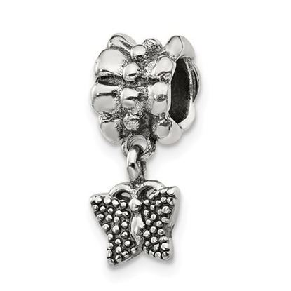 Picture of Sterling Silver Butterfly Dangle Bead
