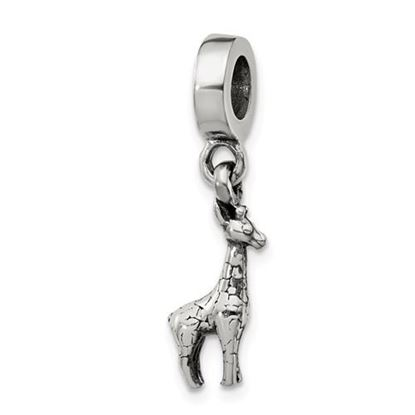 Picture of Sterling Silver Giraffe Dangle Bead