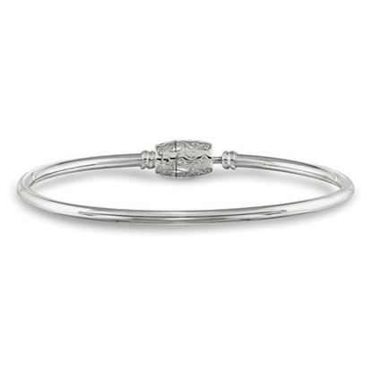 Picture of Sterling Silver Bangle Bead Clasp Bracelet