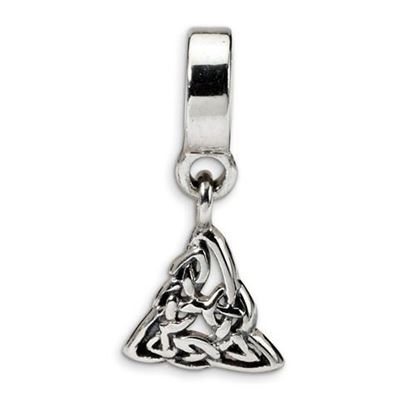 Picture of Sterling Silver Celtic Trinity Dangle Bead
