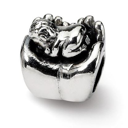 Picture of Sterling Silver Baby in Hands Bead