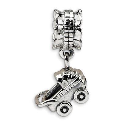 Picture of Sterling Silver Baby Buggy Dangle Bead