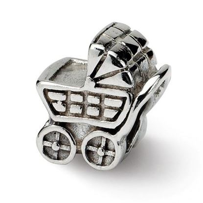 Picture of Sterling Silver Baby Carriage Bead