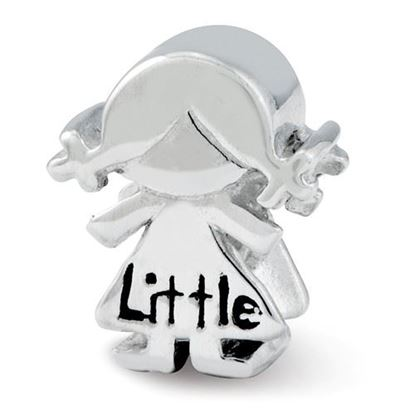 Picture of Sterling Silver Little Sister Girl Bead