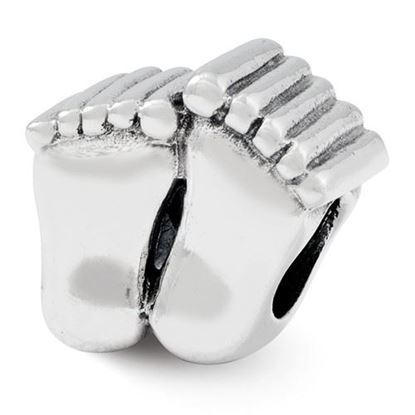 Picture of Sterling Silver Feet Bead