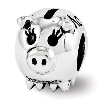 Picture of Sterling Silver Fun Money Piggy Bank Bead