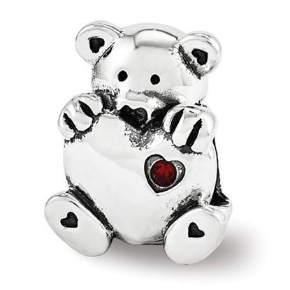 Picture of Sterling Silver Crystals from Swarovski Teddy Bear Bead