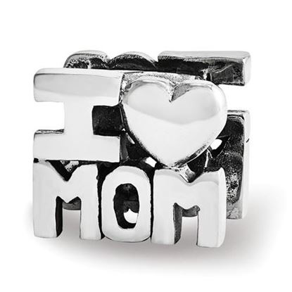 Picture of Sterling Silver I HEART MOM Bead