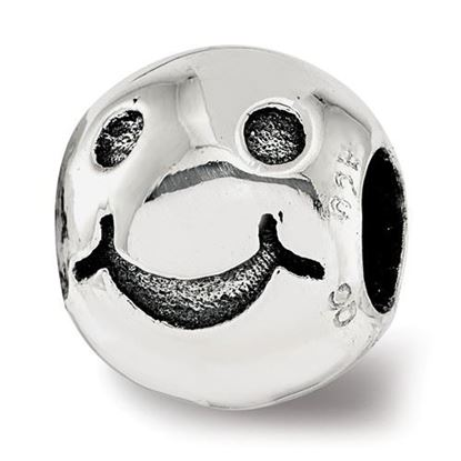 Picture of Sterling Silver Smiley Face Bead