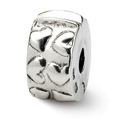 Picture of Sterling Silver Hinged Hearts Clip Bead
